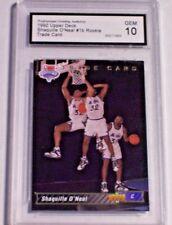 1992-93 Upper Deck Rookie Trade Card Shaquille O'Neal PGA Gem 10 Magic LSU RC