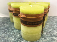 6X Scented Pillar Candle Candles Rustic Decor 5*8cm 22Hr Fragrance Passion Fruit