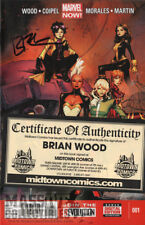 X-Men vol 4 #1 SIGNED by Brian Wood COA from Midtown new unread NM 1st print