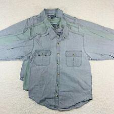 Lot Of 3 Panama Jack Guide Long Sleeve Button Down Shirts - Men's M
