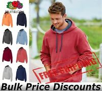 Fruit of the Loom Mens Sofspun Hooded Pullover Sweatshirt SF76R up to 3XL