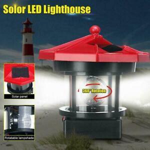 LED Solar Rotating Light Tower Garden Yard Outdoor Lamp Decor U0W3