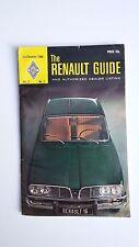 Vtg Renault Guide auto car booklet 1968 authorized dealer color photos articles
