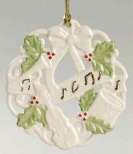 "Lenox ""For My Music Teacher"" Ornament Porcelain Wreath Euc"