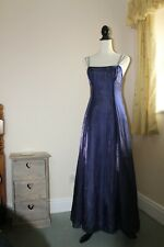 Debut  Purple/blue UK8 Prom Evening Dress Ball gown Party Debenhams