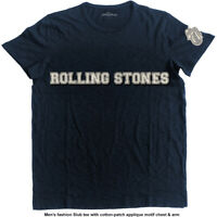 Rolling Stones Logo & Tongue Applique Official Merchandise Shirt M/L/XL - Neu