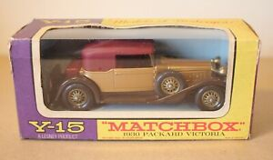 Matchbox Models of Yesteryear Y-15 1930 Packard Victoria. Mint & Boxed.