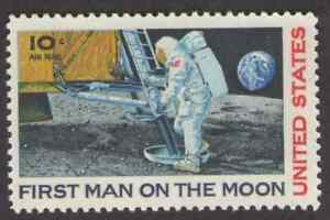 US. C76. 10c. First Man on the Moon. Moon Landing Issue. Mint. NH. 1969
