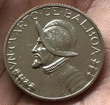 PANAMA REPUBLIC PROOF 1970 1/4 DE BALBOA ARMORED BUST VERY NICE COIN