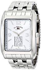 U.S. Polo Assn. Classic Mens Silver Dial Silver-Tone Bracelet Watch