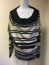 essence Womens Gold and Black Cotton Blend Striped Jumper Size 22-24 (63)