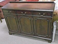 Brown Teak Sideboards, Buffets & Trolleys with 3 Drawers