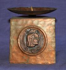 Vintage hand made copper candle holder