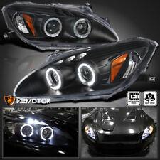 For 2004-2009 Honda S2000 AP2 Halo LED Projector Headlights Black Left+Right