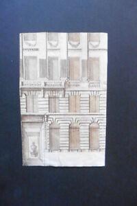 ITALIAN-FLORENTINE SCHOOL 16thC - ARCHITECTURAL STUDY - INK DRAWING