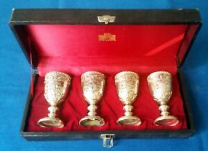 Corbell Silver Co. Silver Plate Mini Goblets  - Set of Four