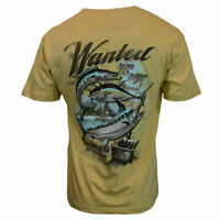 Men's Clearwater T-shirt in Yellow w/Graphic on back- Wanted Alive & Jumpin-NWT
