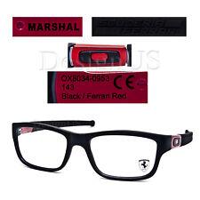 Oakley Marshal OX8034-0953 Matte Black/Ferrari Red 53/17/143 Eyeglasses Rx - New