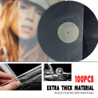 100Pcs Plastic Clear Sleeves Outer Record Cover For 12'' Vinyl LP LD 32x32cm