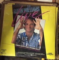 ROBIN WILLIAMS Laserdisc LIVE STAND UP COMEDY 1987 Added Footage NEW IN PLASTIC