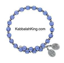 Wind & Fire 6mm Tanzanite Crystal With Spacer Bead Stackable Bangle Bracelet USA