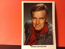 CHARLTON HESTON signed 5 x 7 PHOTO/OSCAR WINNER BEN HUR, EL CID, TOUCH OF EVIL