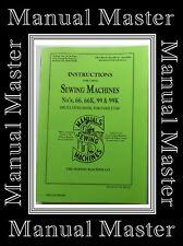 56 PAGED COMPREHENSIVE Singer 66 66K & 99 99K Sewing Machine instruction Manual