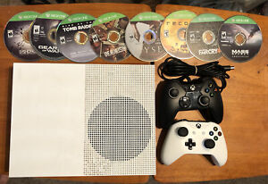 Xbox One S 500GB, White, 14 games, 2 Controllers and Xbox account