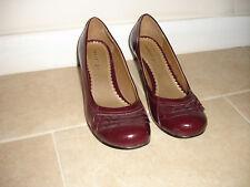 MADDEN GIRL Burgundy Rounded Toe Pumps Heels
