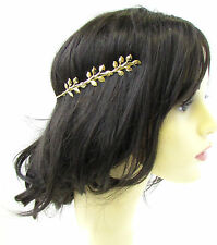 Gold Leaf Headband Headpiece Cuff Grecian Boho Vine Hair Laurel Roman Vtg 922