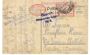 PRIGIONIERI 1918 CROCE ROSSA STUTTGARD ITALIANI