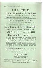 Il Primitivo, piccolo Haywood, Stafford. catalogo di vendita di mobili antichi
