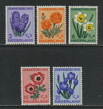 Netherlands 1953 Flowers semipostal-- Atractive Topical (B249-53) MH