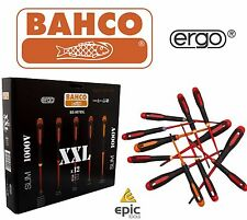 Bahco BE-9878SL ERGO 12 Piece XXL Slim 1000V VDE PZ/PH/Slot/TX Screwdriver Set