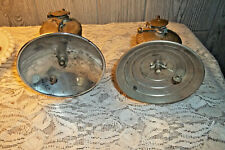 2 Vintage Auto Lite  Brass Carbide Miner's Lamp Headlight Light Lantern