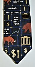 Necktie By Ralph Marlin 100% Silk Stock Broker Squares 1998 See 10 Pictures.