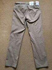 "MEYER Men's Pima Cotton Chinos Trousers with belt, W34"", L32"", Tan/Beige, £90"