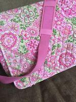VERA BRADLEY PETAL PINK Large MESSENGER BAG Crossbody Retired