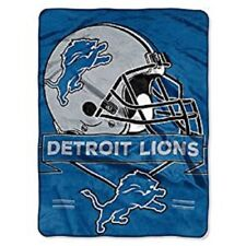 "Detroit Lions Plush 60"" by 80"" Twin Size Blanket - NFL"