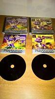 PS1 SPYRO the Dragon 1, 2 Gateway To Glimmer &  Games platinum Bundle PAL