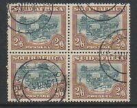South Africa - 1949, 2s6d Green & Brown - Block of 4 - F/U - SG 121