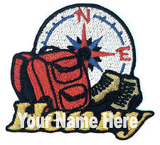 Hiking Custom Iron-on Patch With Name Personalized Free