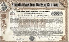 NORFOLK AND WESTERN RAILWAY COMPANY.....GOLD MORTGAGE BOND ISSUED 1936
