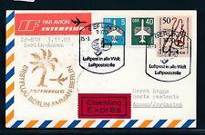 97479) DDR Eilboten Karte IF FF Berlin - Amman 25.3.84