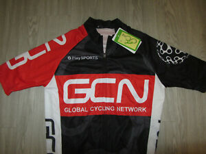 NWT NEW GCN Global Cycling Network Black Bike Bicycle Pro Jersey S Small Red