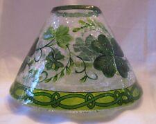 Yankee Candle LUCKY SHAMROCKS CANDLE / JAR SHADE Crackle Glass #1508032 New