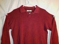 Tommy Bahama Men's Large Lg. Sleeve Shirt  Burgundy 77% Silk 33% Cotton #274A
