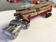 ULRICH HO SCALE 1/87 CHEVE  TRUCK TRACTOR WITH LOGGING TRAILER ALL METAL