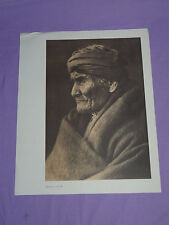 "Edward Curtis Native American Indian Vintage Photo Print ""GERONIMO - APACHE"""