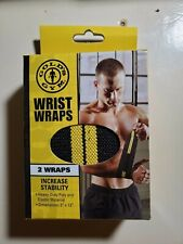 Gold's Gym Wrist Straps HHSA-GG010-2 Increase Stability Weight Lifting 2 Wraps